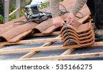 construction worker on a... | Shutterstock . vector #535166275