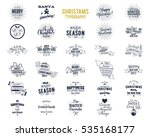 big christmas bundle  ... | Shutterstock .eps vector #535168177
