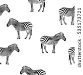 zebra seamless pattern | Shutterstock .eps vector #535173721