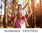 grandfather giving... | Shutterstock . vector #535175521
