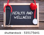 health and wellness  health... | Shutterstock . vector #535175641