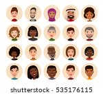 happy people round avatar icon... | Shutterstock .eps vector #535176115