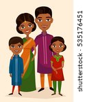 happy indian family couple with ... | Shutterstock .eps vector #535176451