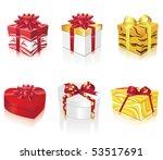 beautiful presents   Shutterstock .eps vector #53517691