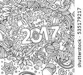 cartoon cute doodles hand drawn ... | Shutterstock .eps vector #535179217