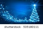 christmas card with magic tree... | Shutterstock .eps vector #535180111