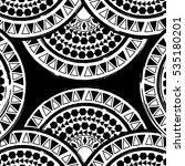 circle polynesian tattoo styled ... | Shutterstock .eps vector #535180201