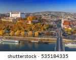 beautiful view on bratislava...   Shutterstock . vector #535184335