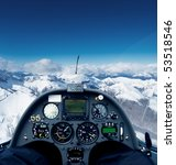 photo inside the cockpit of a... | Shutterstock . vector #53518546