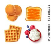 breakfast menu items 4... | Shutterstock .eps vector #535186111