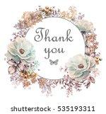 card  watercolor wedding... | Shutterstock . vector #535193311