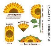 Sunflower Banners And Vector...