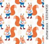 vector seamless pattern with... | Shutterstock .eps vector #535196935