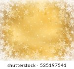 gold decorative christmas... | Shutterstock . vector #535197541