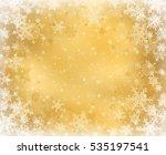 gold decorative christmas... | Shutterstock . vector #535197541