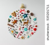 christmas bauble made of... | Shutterstock . vector #535201711