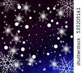 blue gradient christmas... | Shutterstock . vector #535205161