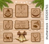 christmas icon collection. new... | Shutterstock .eps vector #535205761