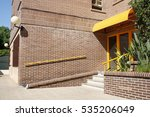 brick building entrance view | Shutterstock . vector #535206049