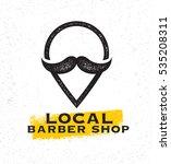 local barber shop creative sign ...   Shutterstock .eps vector #535208311