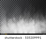 fog or smoke isolated... | Shutterstock .eps vector #535209991