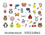 fashion baby patches badges... | Shutterstock .eps vector #535210861