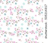 simple cute pattern in small... | Shutterstock .eps vector #535214317