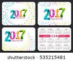 set of sunday start pocket... | Shutterstock . vector #535215481