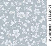 seamless grey and white flower... | Shutterstock .eps vector #535216405
