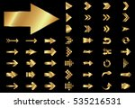 arrow vector gold curve line up ... | Shutterstock .eps vector #535216531