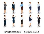 isometric set of elegant... | Shutterstock .eps vector #535216615