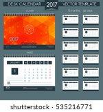 design desk calendar 2017.... | Shutterstock .eps vector #535216771