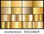 gold gradient background vector ... | Shutterstock .eps vector #535218829