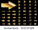 arrow vector gold curve line up ... | Shutterstock .eps vector #535219189