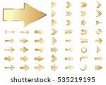 arrow vector gold curve line up ... | Shutterstock .eps vector #535219195