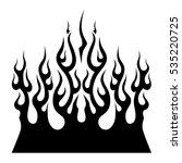 flame tattoo tribal vector... | Shutterstock .eps vector #535220725