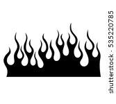 black tribal flames for tattoo... | Shutterstock .eps vector #535220785