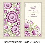 wedding invitation card ethnic... | Shutterstock .eps vector #535225291