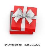 open red gift box ribbon top...   Shutterstock . vector #535226227