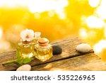 bottle of aroma essential oil... | Shutterstock . vector #535226965