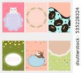 template for scrapbook ... | Shutterstock .eps vector #535228324