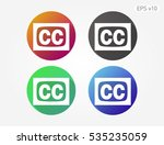 colored icon of subtitles... | Shutterstock .eps vector #535235059
