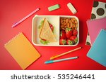 Lunch Box With Food And...