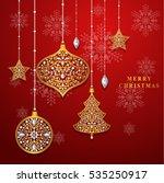vector illustration christmas... | Shutterstock .eps vector #535250917