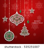 vector illustration christmas... | Shutterstock .eps vector #535251007