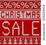 christmas sale  knitting... | Shutterstock .eps vector #535253419
