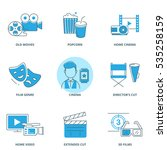 movie vector icons set  | Shutterstock .eps vector #535258159