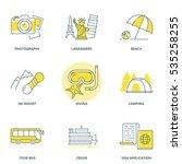 travel vector icons set | Shutterstock .eps vector #535258255