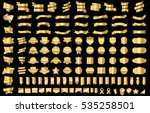 label ribbon banner gold vector ... | Shutterstock .eps vector #535258501