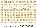 label ribbon banner gold vector ... | Shutterstock .eps vector #535258537